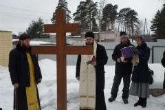 Панихида на кладбище в Родительские субботы Великого поста, март 2017 года