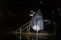 Святое Богоявление, молебен у иордани на реке Воря,  январь 2020 года