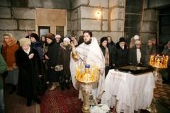 Первая Литургия Александро-Невского храма в Красноармейске