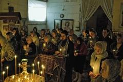 Чтение Великого покаянного канона Андрея Критского в Александро-Невском храме Красноармейска, март 2014 года